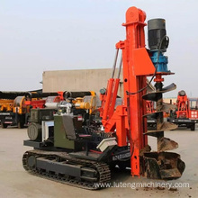 Mini guardrail post pile driving machine